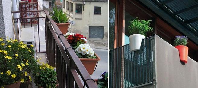 Hogar samyka interiores for Macetas para balcon