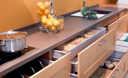 Ideas para una cocina peque a samyka interiores - Cajoneras de cocina ...